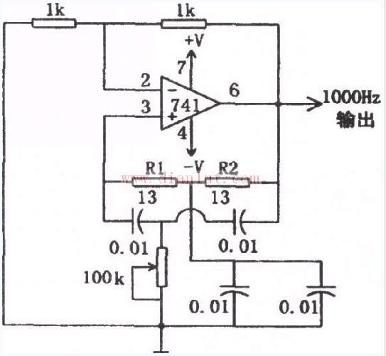 【图】1kHz正弦信号发生器电路信号产生 电路