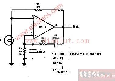 文氏桥正弦波振荡器电路原理图