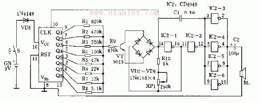 【图】多音仿声发生器电路设计信号产生