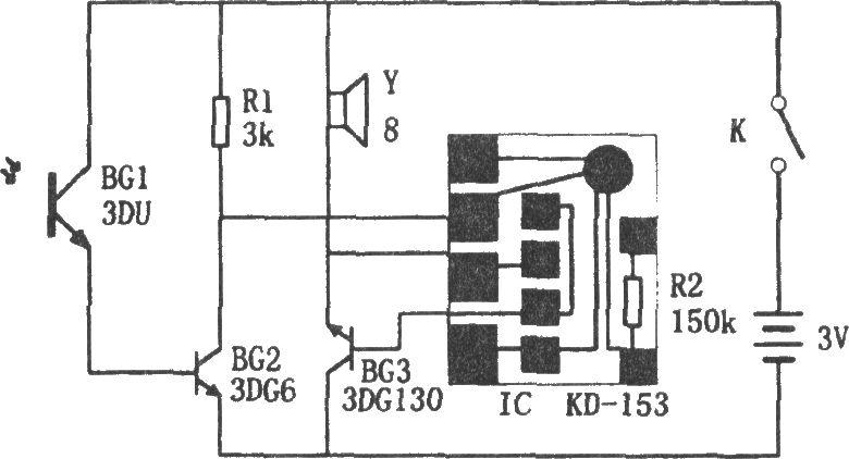 煤气灶熄火报警器电路原理图