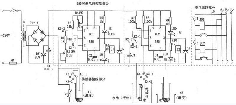 【图】温湿度,液位多用途自控器电路控制电路