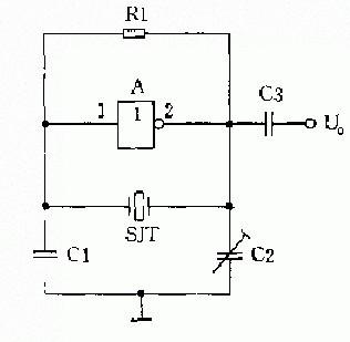 石英晶体正弦振荡器原理及电路示意图