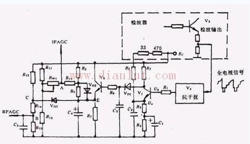 峰值延迟式的AGC电路