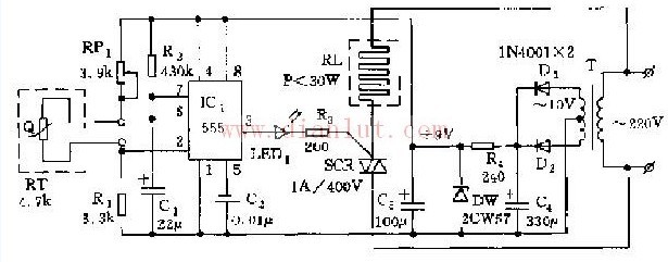 位置控制与自动往返控接线图