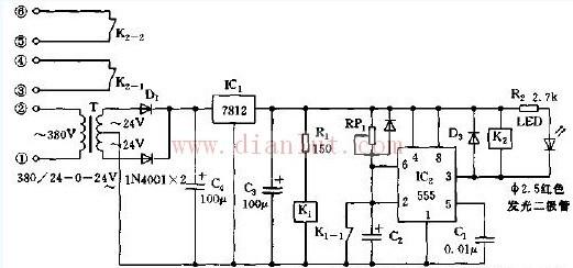 工业用时间继电器电路