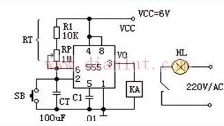 相片曝光定时器电路原理