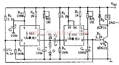 基于556芯片设计可变间歇定时器电路