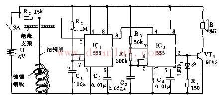 简易地震声光报讯器工作原理电路图
