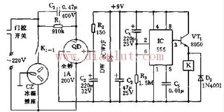小巧的电冰箱保护插座电路设计