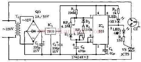 【图】可调节通断时间的循环定时插座电路其它电路图