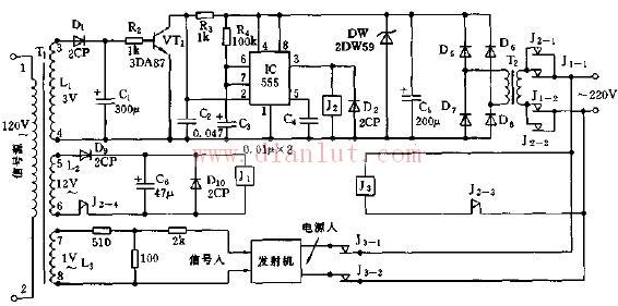 【图】运用555电路的音响器音遥控开关电路其它电路