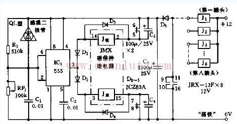 轴湿报警器电路原理