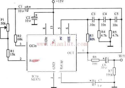 相移正弦波振荡器电路原理图