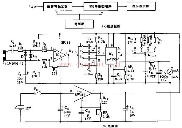 集成化直读音频表电路原理图