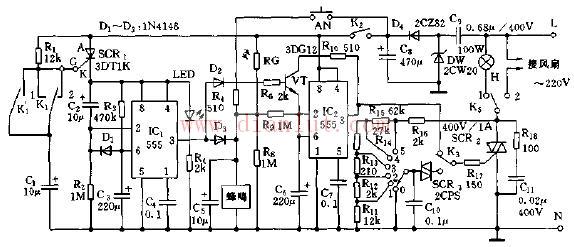 """【图】""""空城计""""防盗发报警器的简易电路图其它电路图"""