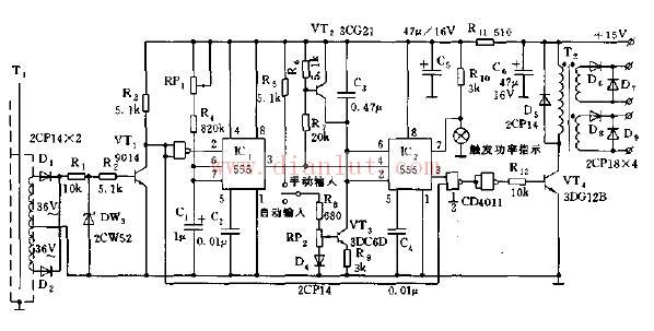 可控硅,是可控硅整流元件的简称,是一种具有三个PN 结的四层结构的大功率半导体器件,亦称为晶闸管。具有体积小、结构相对简单、功能强等特点,是比较常用的半导体器件之一。该器件被广泛应用于各种电子设备和电子产品中,多用来作可控整流、逆变、变频、调压、无触点开关等。家用电器中的调光灯、调速风扇、空调机、电视机、电冰箱、洗衣机、照相机、组合音响、声光电路、定时控制器、玩具装置、无线电遥控、摄像机及工业控制等都大量使用了可控硅器件。