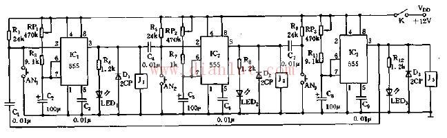 时间程序控制器电路原理图