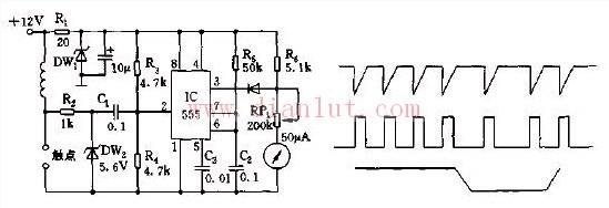 【图】检测车速的汽车路码表电路原理