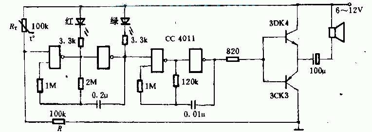 超温报警器原理及电路图解