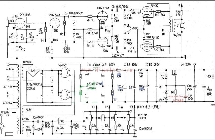 【图】电子管功放电路音频电路