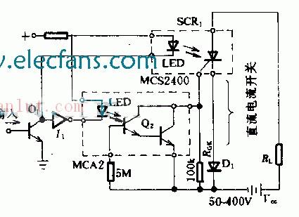 新型光电隔离高压直流开关电路