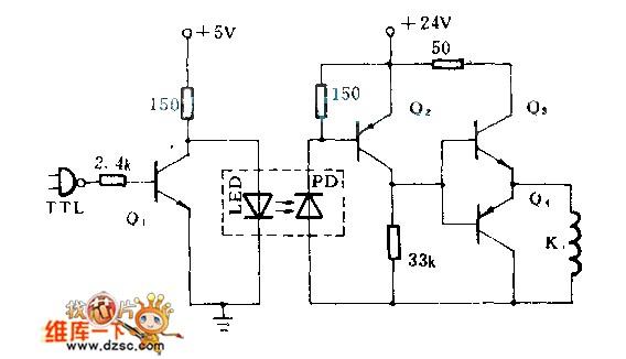 能消除继电器噪声和尖峰电压对TTL电路影响的光电隔离电路设计