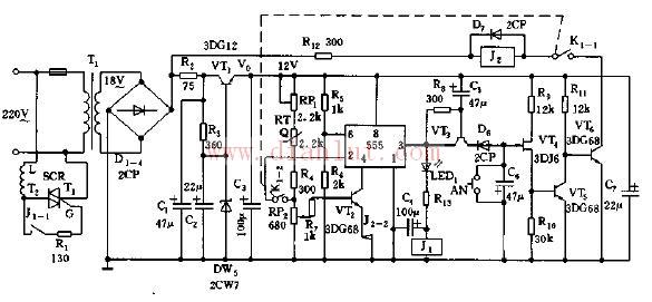 【图】基于555的电饭煲自动控制器电路其它电路图