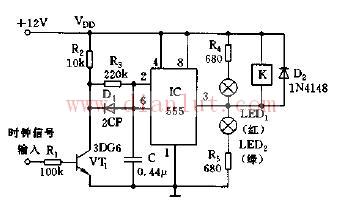 基于555构成可控硅脉冲消失检测电路