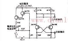 重复频率连续可变的改进型多谐振荡器的原理电路