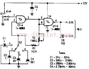 简易CMOS视频振荡器的电路图