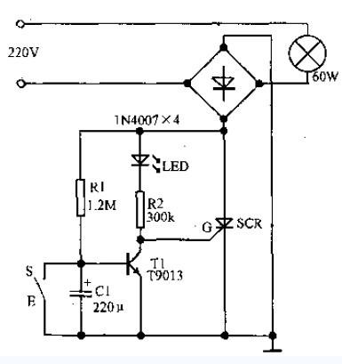 ... 的电路图要求上下两端均能控制,使用单刀双闸开关
