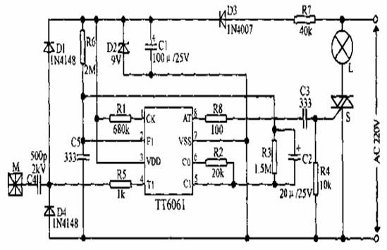四级调光实现低功耗的设计