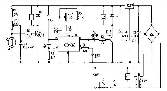 【图】路灯霓虹灯节能光控定时开关的原理电路光电
