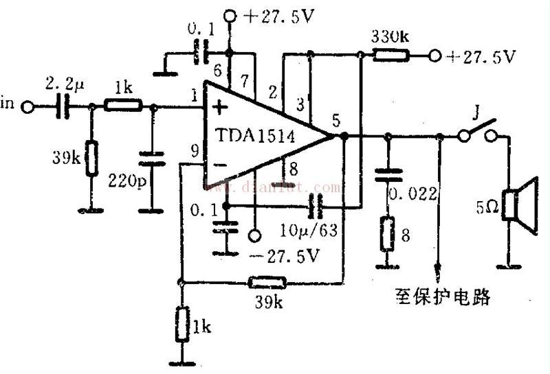 【图】tda1514功率放大电路设计音频电路