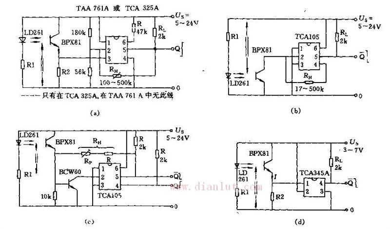 基于LD261的四种新型简易光栅电路