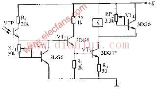 晶体管作温度补偿的光控电路