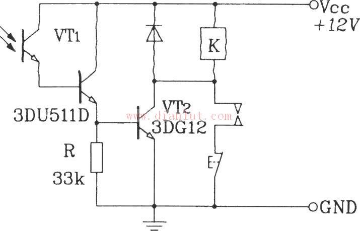 首页 电路图 光电电路   光敏三极管(phototransistor)和普通三极管相
