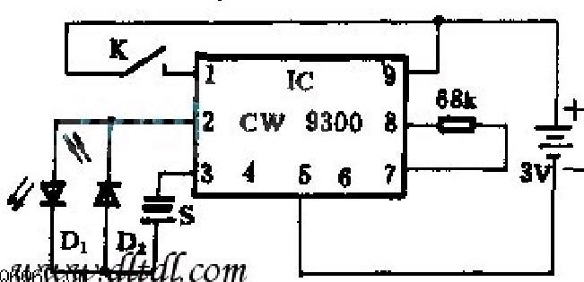 由CW9300设计的会唱歌不倒翁电路