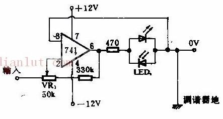 【图】发光二极管调谐指示的原理及电路图光电电路