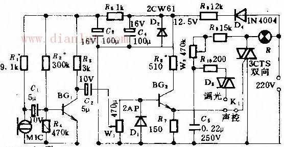 声控及调光两用彩灯控制的设计