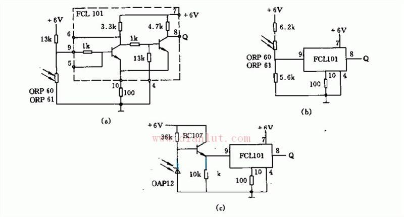 采用FCL101施密特触发器光栅电路