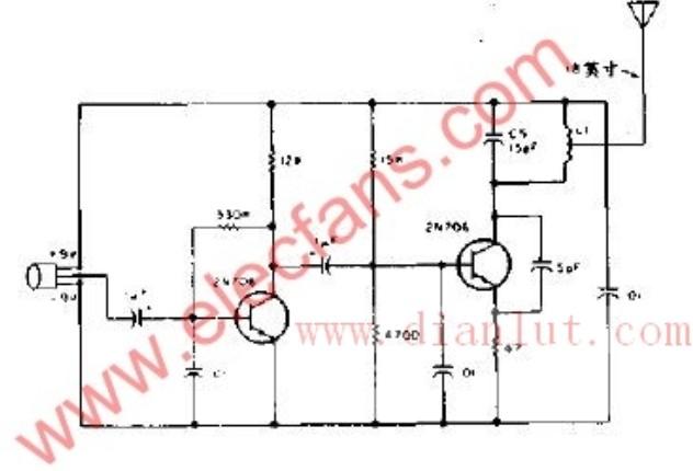 【图】采用三极管实现简易调频发射机电路遥控电路