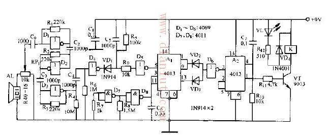 【图】超声波遥控接收电路的应用光电电路