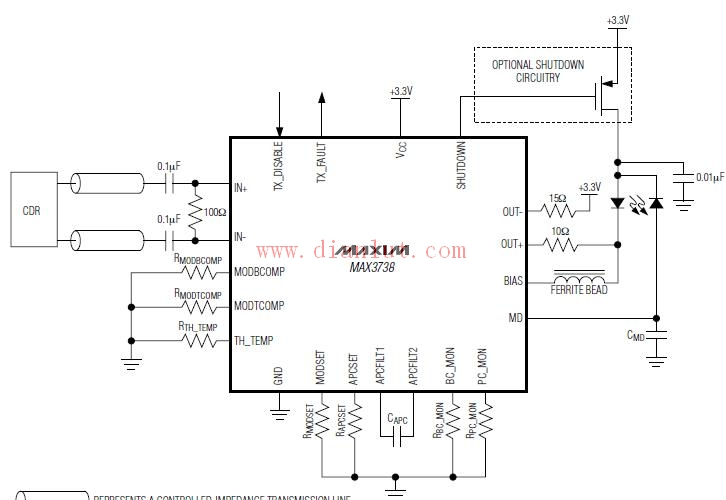 MAX3738应用电路图解