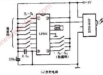 【图】由bth801模块制作的多路红外遥控电路光电电路