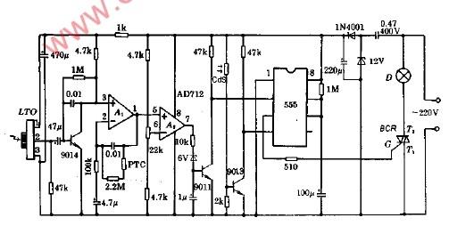 基于555的简易实用人体遥控灯电路