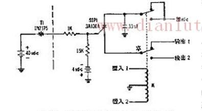 供光电读出器用的不用放大器的可控硅开关的电路