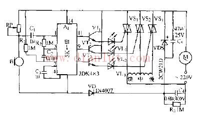 简易声控电风扇变速器电路原理