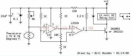 LM339设计的电子温控器及继电器基于LM339设计
