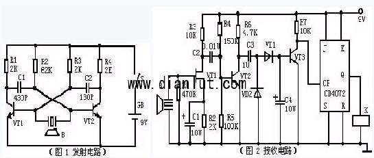 超声波遥控电路